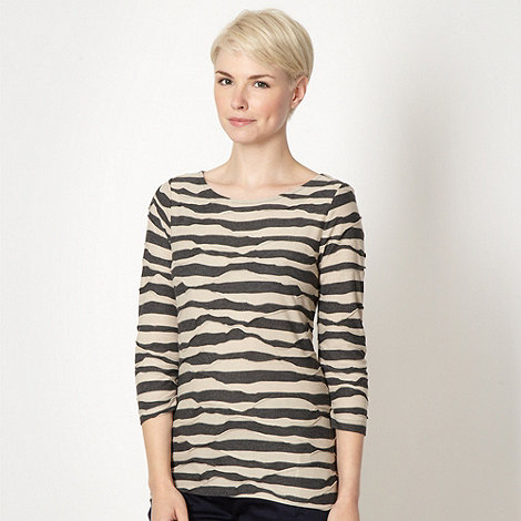 Principles by Ben de Lisi - Designer natural striped top
