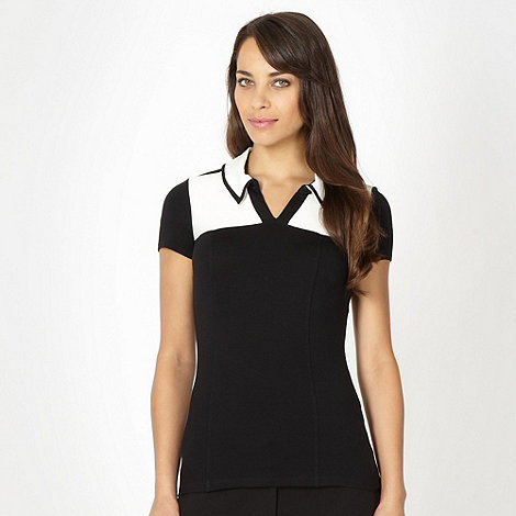 Principles by Ben de Lisi - Designer black jersey colour block top