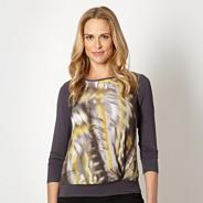 Petite designer grey sketched panel top
