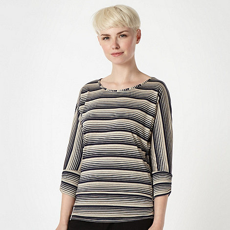 Principles by Ben de Lisi - Designer navy striped jersey top