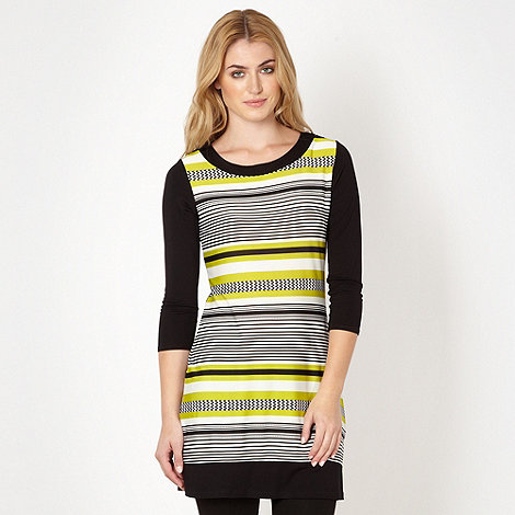 Principles by Ben de Lisi - Designer lime zig zag striped tunic