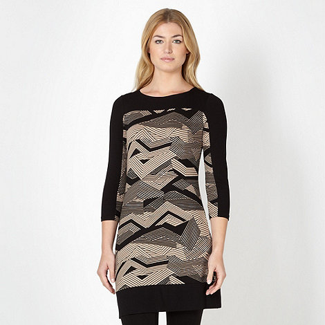 Principles by Ben de Lisi - Designer taupe zig zag tunic