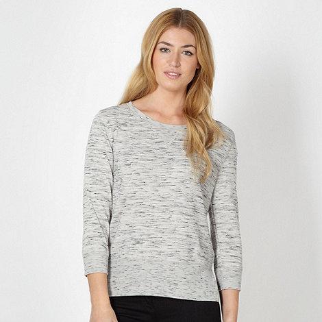 Principles by Ben de Lisi - Designer grey round neck jersey sweatshirt