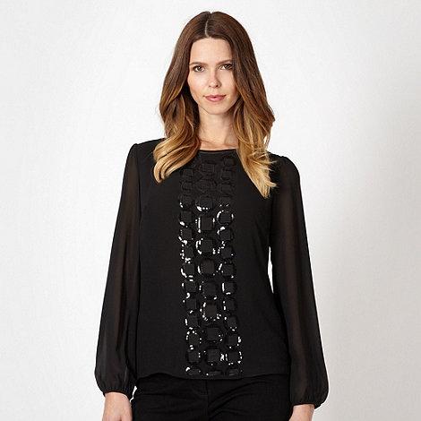 Principles by Ben de Lisi - Designer black sequin square top