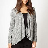 Designer grey space dye knit cardigan