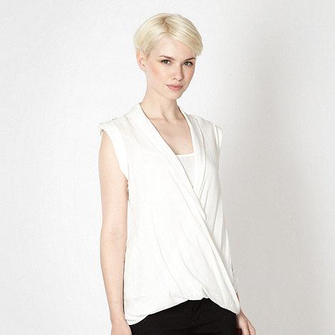 Principles by Ben de Lisi - Designer ivory wrap dip hem blouse