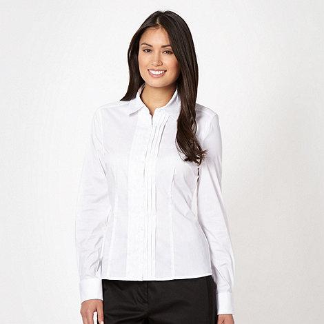 Principles by Ben de Lisi - Designer white pintuck front shirt