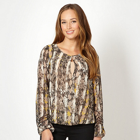 Principles by Ben de Lisi - Designer brown snake top