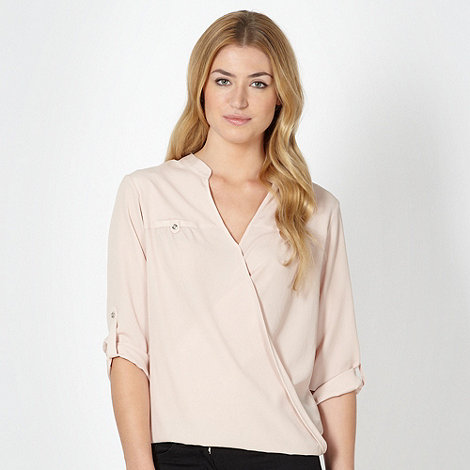 Principles by Ben de Lisi - Designer rose wrap front blouse