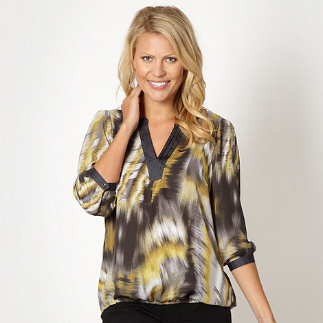 Principles by Ben de Lisi - Designer dark grey scratch effect blouse