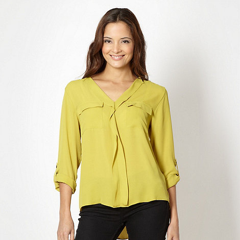 Principles by Ben de Lisi - Designer lime frill trimmed top