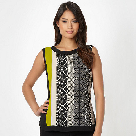 Principles by Ben de Lisi - Designer lime tribal shell top
