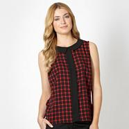 Designer black pattern sleeveless top