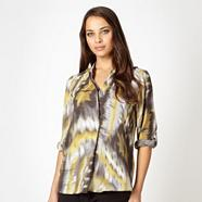 Dark grey chiffon blouse