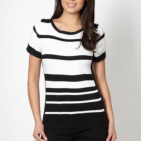Principles by Ben de Lisi - Designer black monochrome striped jumper