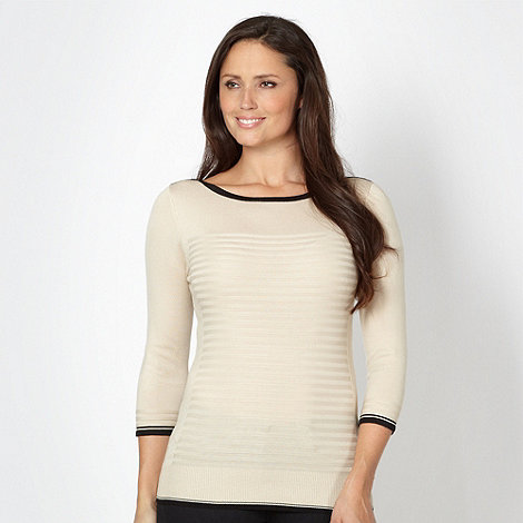Principles by Ben de Lisi - Designer ivory ribbed boatneck top