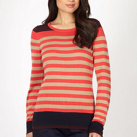 Principles by Ben de Lisi - Designer peach striped jumper