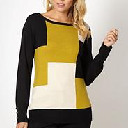 Designer lime square knit jumper