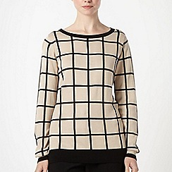 Principles by Ben de Lisi - Designer camel checked jumper