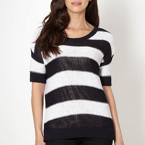 Principles by Ben de Lisi - Designer navy striped jumper