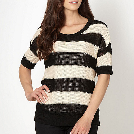 Principles by Ben de Lisi - Designer black striped jumper