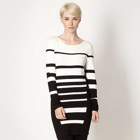 Principles by Ben de Lisi - Designer black striped long sleeved tunic
