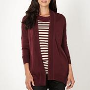 Designer wine edge to edge cardigan