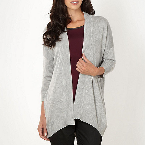Principles by Ben de Lisi - Designer light grey edge to edge cardigan