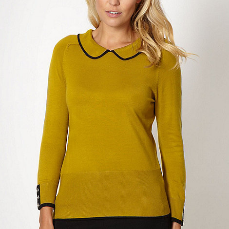 Principles by Ben de Lisi - Designer olive peter pan collar jumper