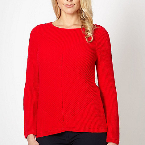 Principles by Ben de Lisi - Designer red ribbed jumper