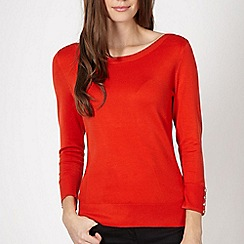 Principles by Ben de Lisi - Designer dark orange rib panelled jumper