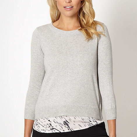 Principles by Ben de Lisi - Designer light grey 2 in 1 jumper