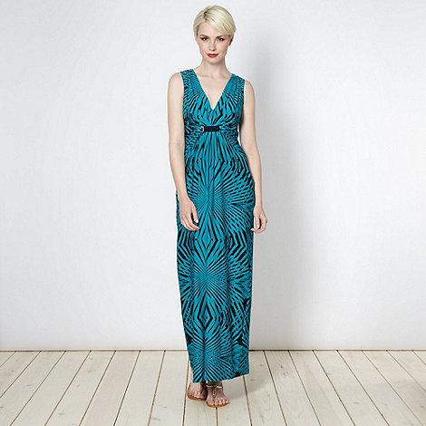 Principles by Ben de Lisi - Designer turquoise graphic maxi dress
