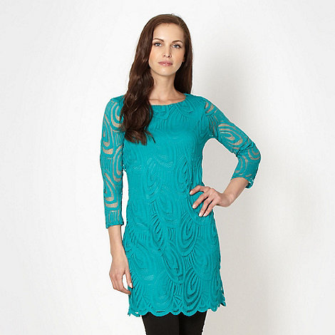Principles by Ben de Lisi - Designer turquoise lace tunic dress