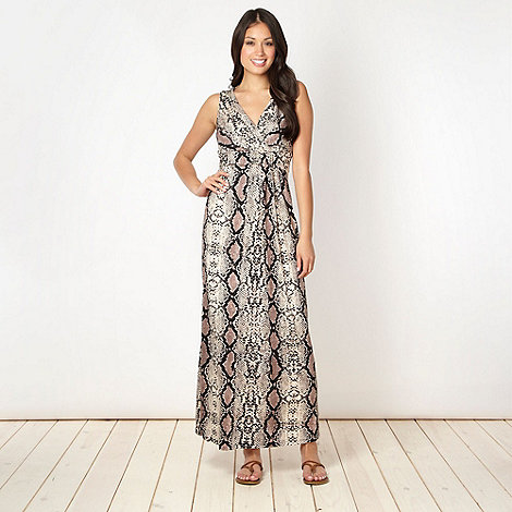 Principles by Ben de Lisi - Designer taupe snake maxi dress