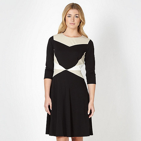 Principles by Ben de Lisi - Designer black colour block jersey dress