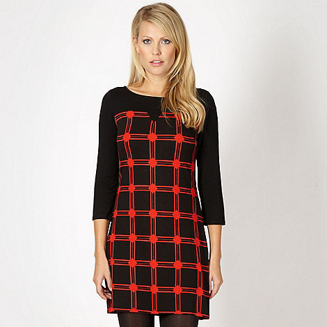 Principles by Ben de Lisi - Designer black checked shift dress