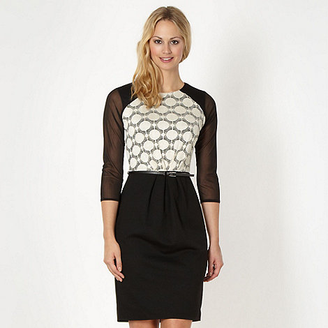 Principles by Ben de Lisi - Designer black lace shift dress