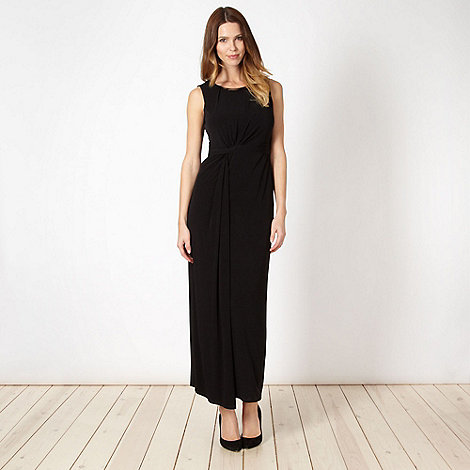 Principles by Ben de Lisi - Designer black necklace trim maxi dress