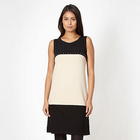 Principles by Ben de Lisi - Designer black studded colour block dress