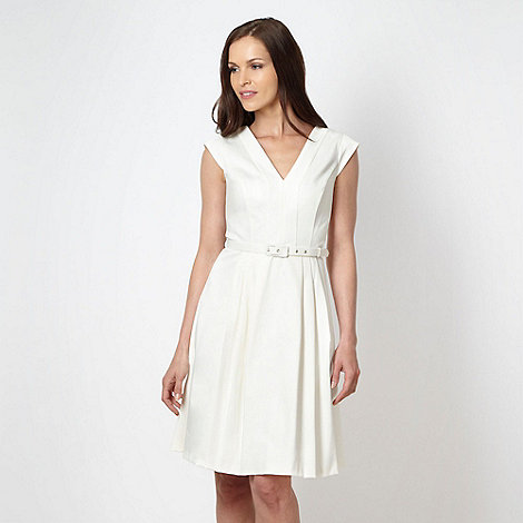 Principles by Ben de Lisi - Designer ivory textured dress