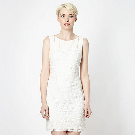 Principles by Ben de Lisi - Designer cream raindrop lace dress
