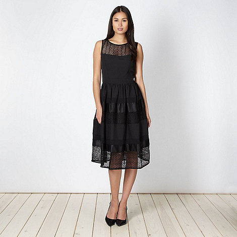 Principles by Ben de Lisi - Designer black lace panelled prom dress