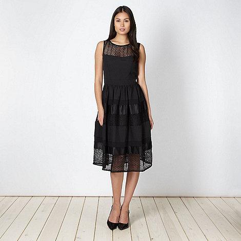 Principles by Ben de Lisi - Designer black lace panelled prom dress