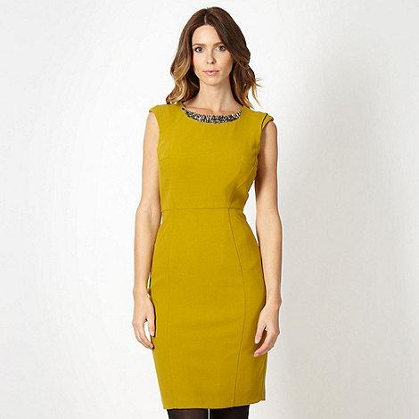 Principles by Ben de Lisi - Designer lime crepe shift cocktail dress
