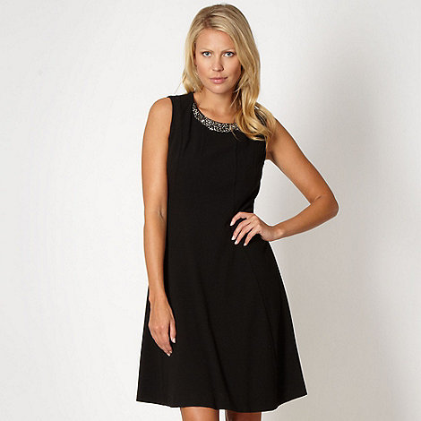 Principles by Ben de Lisi - Designer black embellished fit and flare dress