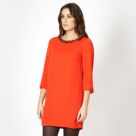 Principles by Ben de Lisi - Designer orange embellished cutout dress