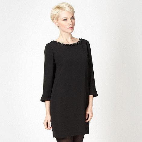 Principles by Ben de Lisi - Designer black embellished cutout dress
