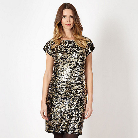 Principles by Ben de Lisi - Designer gold sequin cocktail dress