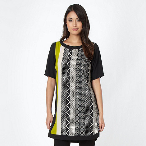Principles by Ben de Lisi - Designer lime tribal tunic